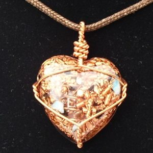 Heart Orgonite Pendant