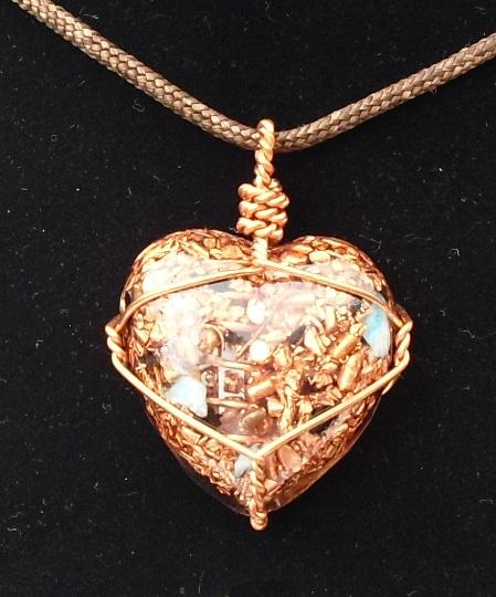 Heart Orgonite Pendant