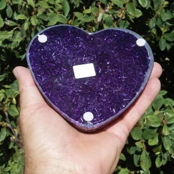 Orgonite Energy Heart - Medium Size Back