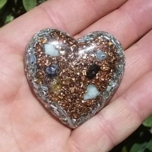 Orgonite Heart Pocket Piece