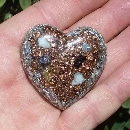 Orgonite Heart Pocket Piece